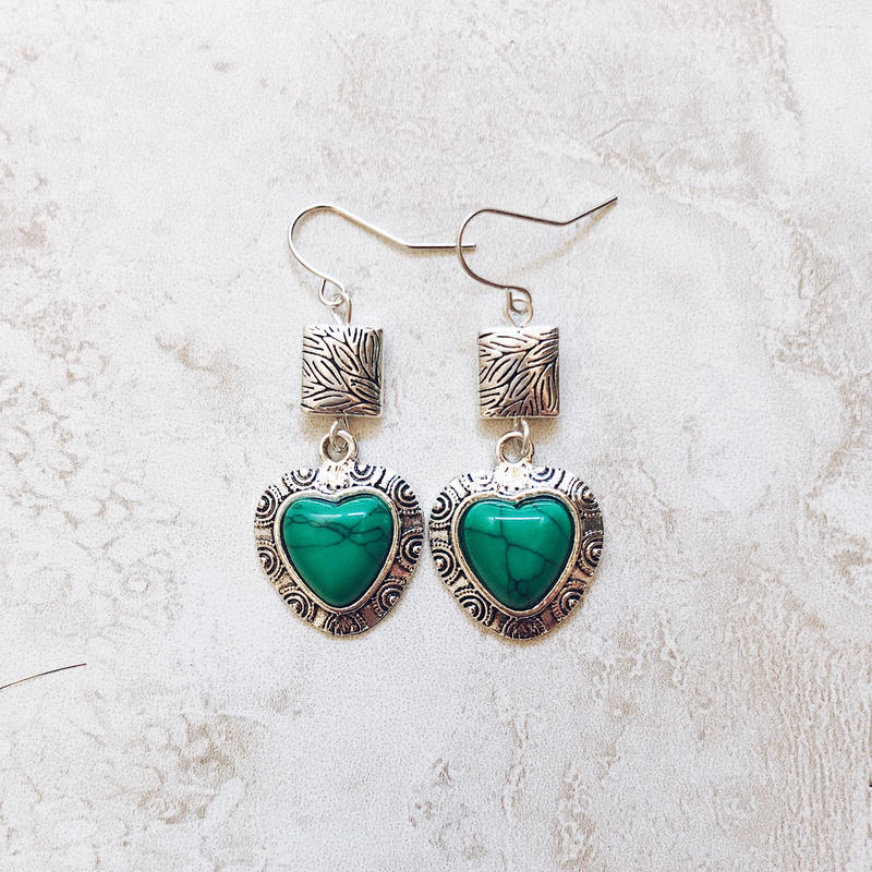 malachite silver pierce