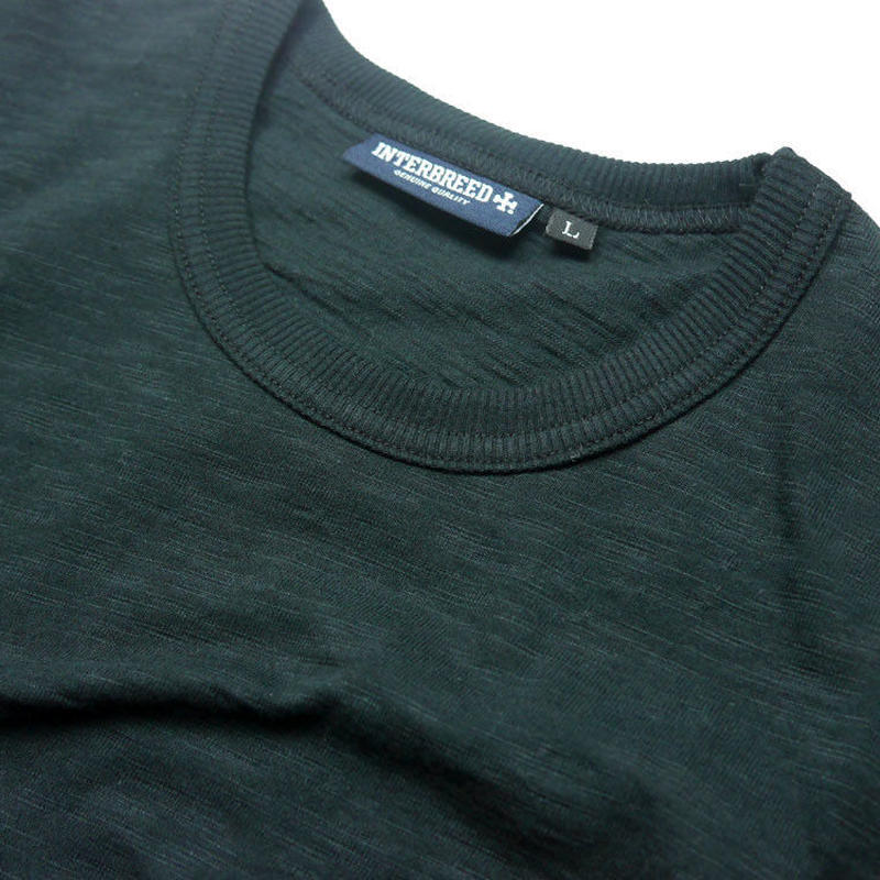 INTERBREED SLAB COTTON POCKET TEE GREEN <L , XL>