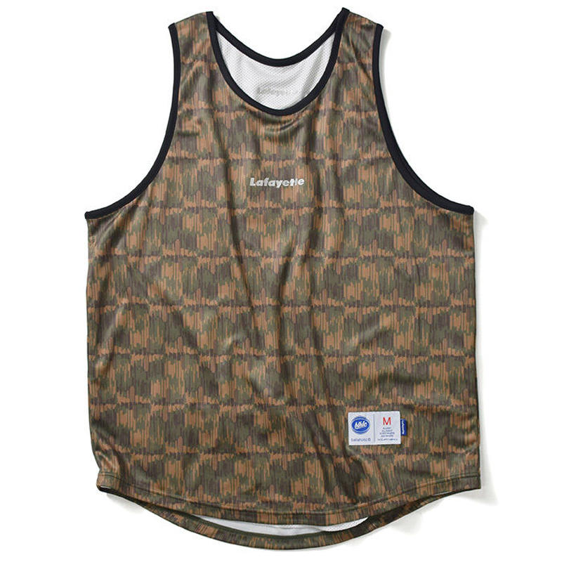 LAFAYETTE × ballaholic - NYC CAMO REVERSIBLE TOPS GREEN×WHITE