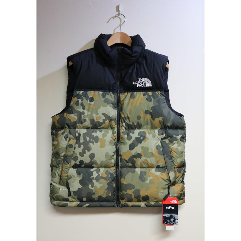 "THE NORTH FACE ""1996 RETRO NUPTSE VEST"" Black / Camo Size US M / JP L"