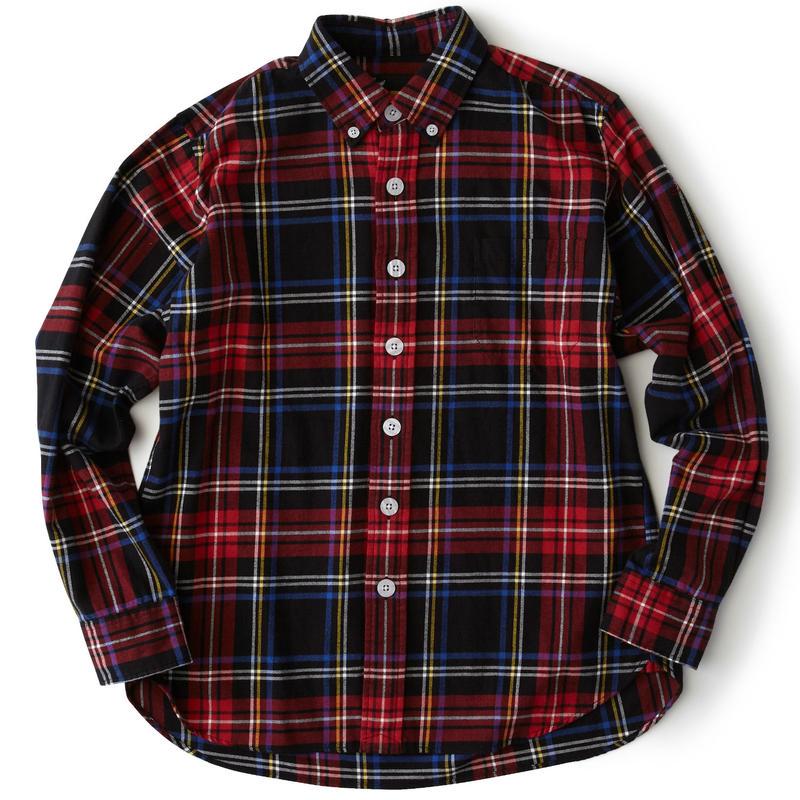 FAT AXES タータンチェックシャツ (BLACK)