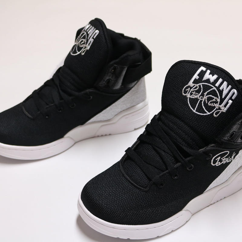 "EWING ATHLETICS 33 HI BLACK/WHITE ""SPEEDWEAVE"""