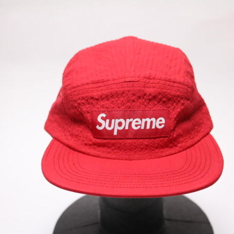 supreme TONAL SEERSUCKER CAMP CAP RED