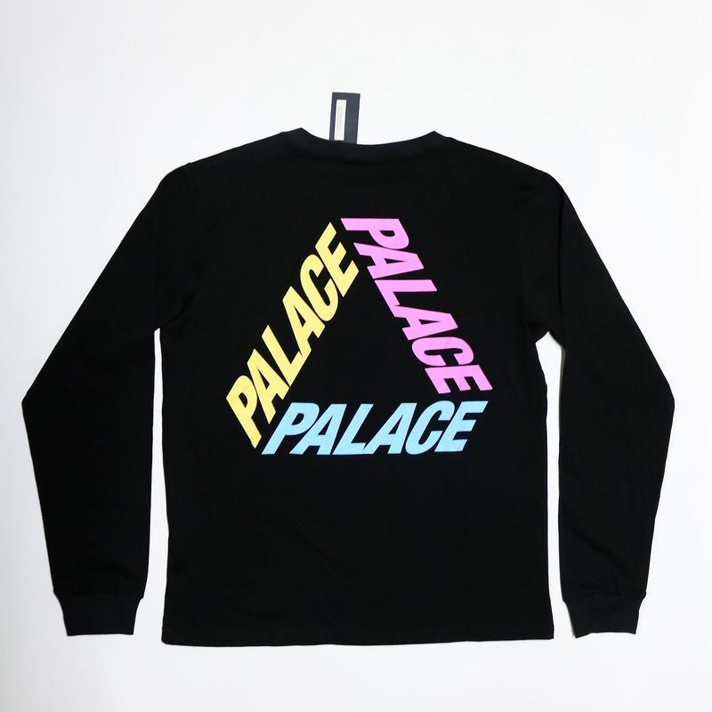 PALACE Skateboards P3 L/S Tee BLACK×MULTI