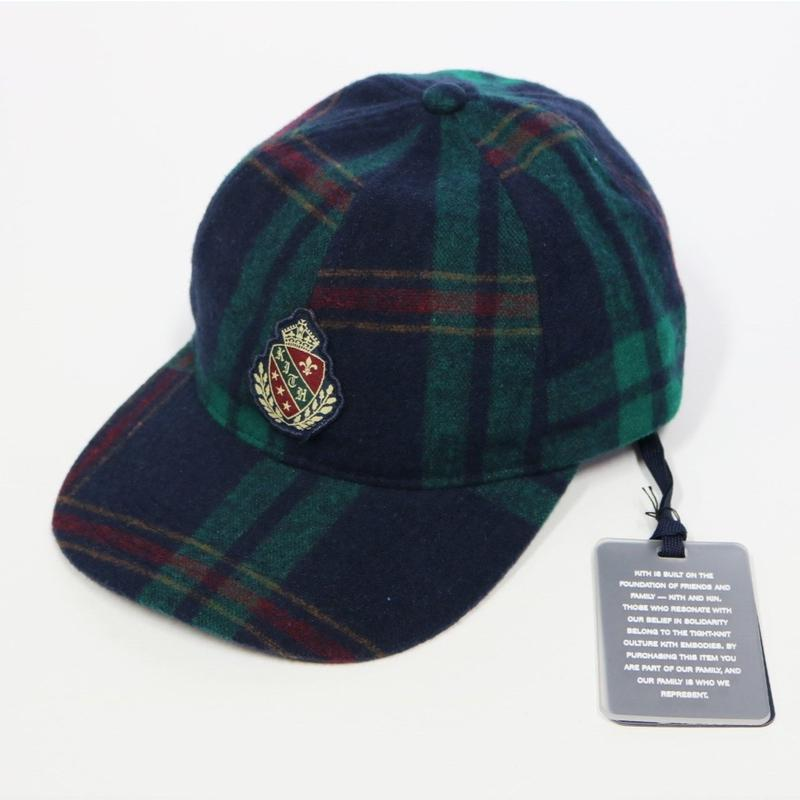 KITH Wreath Blackwatch DAD HAT Navy/Green キス チェック キャップ