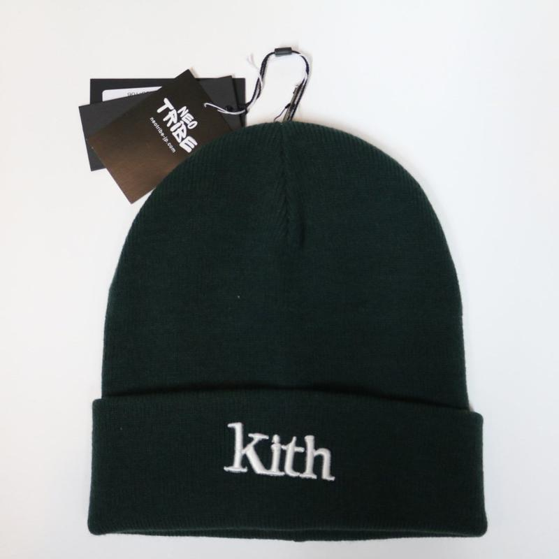 KITH Serif Beanie Green キス ビーニー ニット