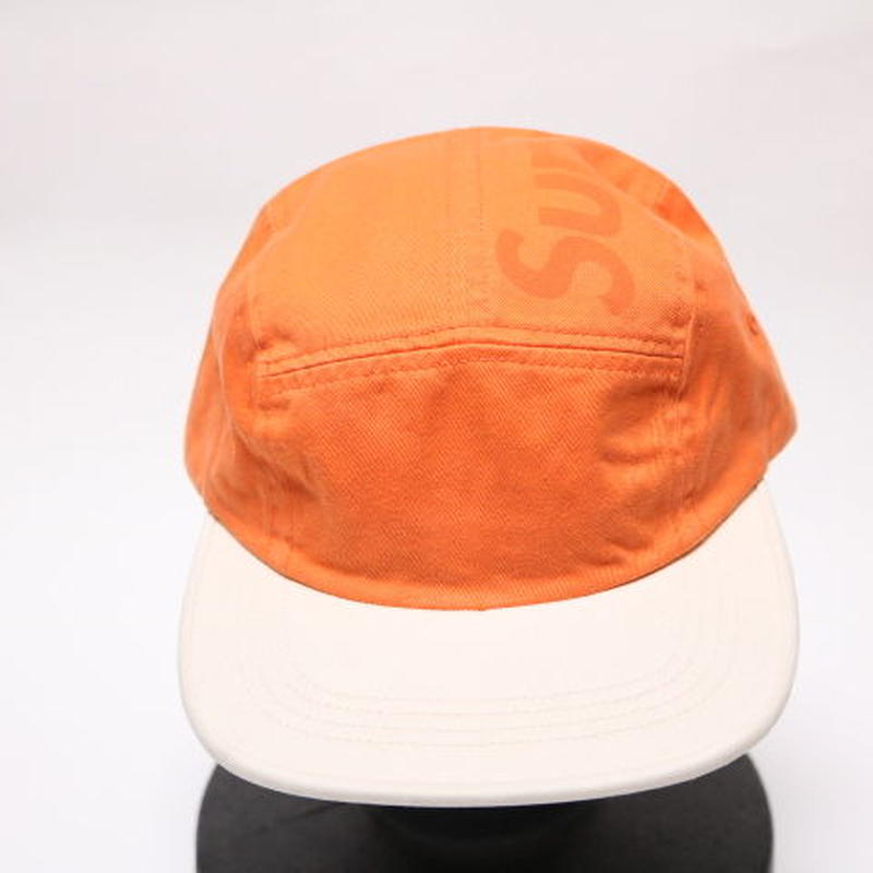 supreme 2017SS TONE TWILL TOP PANEL CAMP CAP ORANGE