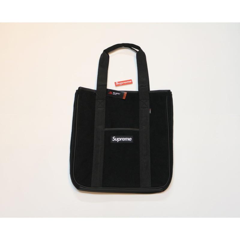 Supreme 2018 FW 18 AW Polartec tote bag Black シュプリーム ポーラテック トート バッグ ボックスロゴ