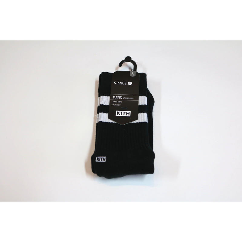 KITH Summer 18 x STANCE Socks Crew Height Black L (US 9-12 , JP 27-30cm)