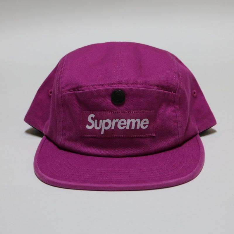 SUPREME 18AW Snap Button Pocket Camp Cap Magenta キャンプキャップ