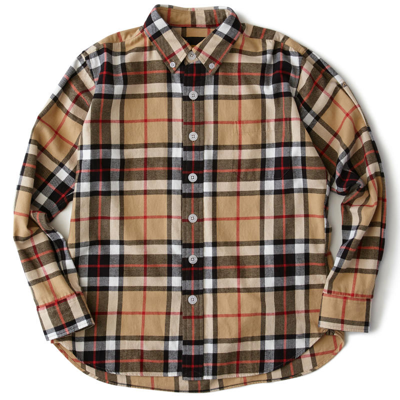 FAT AXES タータンチェックシャツ