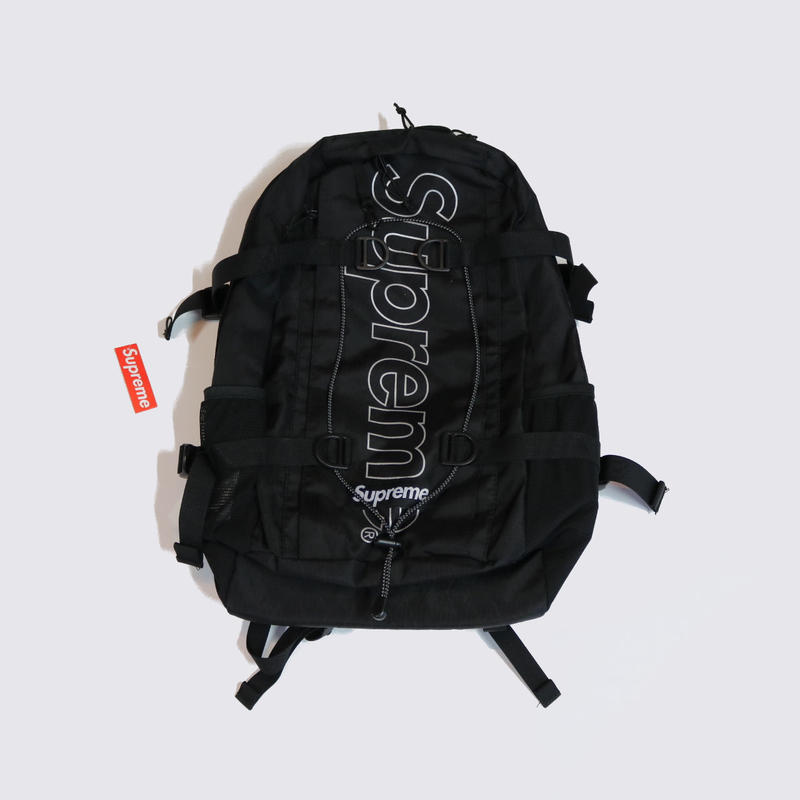 Supreme FW18B8 BACKPACK Black