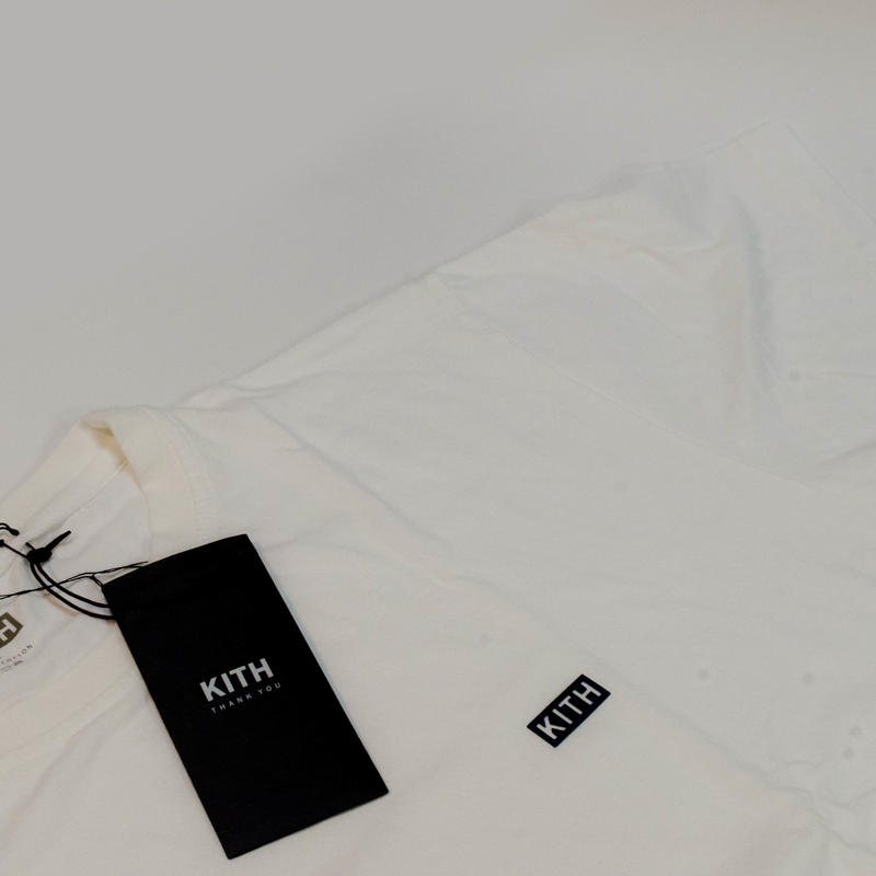 KITH MINI CHEST BOX LOGO TEE WHITE <L>