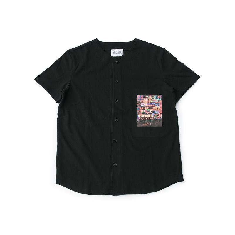 NEON STREET BASEBALL SHIRT (BLACK)