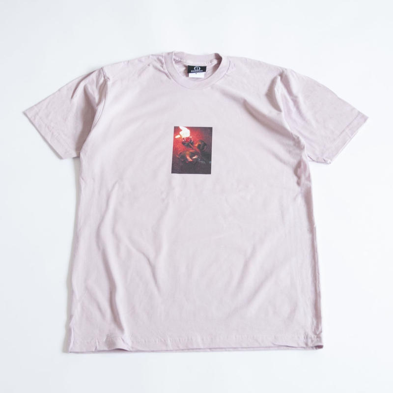 BURNING ROSE TEE  (MAUVE)