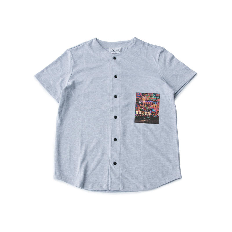 NEON STREET BASEBALL SHIRT (HEATHER GRAY)