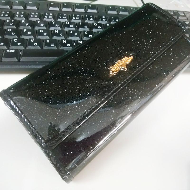 ラメギャルソン 長財布ブラック