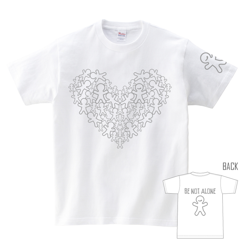 Tシャツ:BE NOT ALONE 01