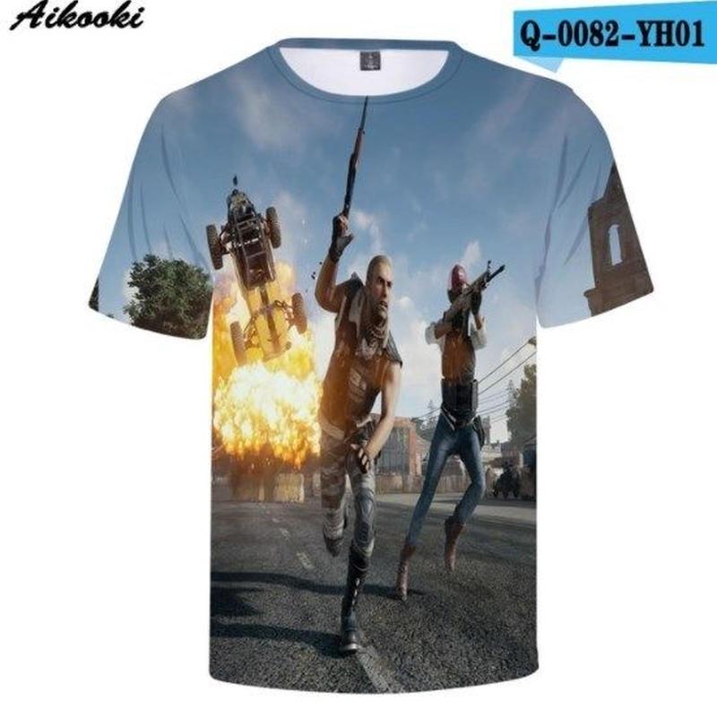 Pubg パブジー ゲーム 3Dデザイン Tシャツ ユニセックス  playerunknown Battlegrounds プレイヤーアンノウンズ バトルグラウンズ  8