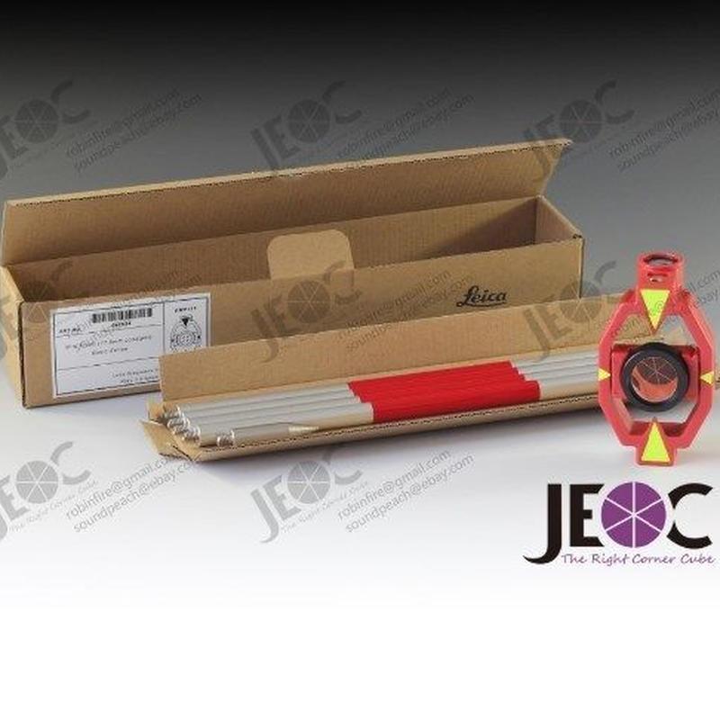 測量 汎用品 ミニプリズム トータルステーション リフレクター 4センターロッド 1インチ  ライカスタイル