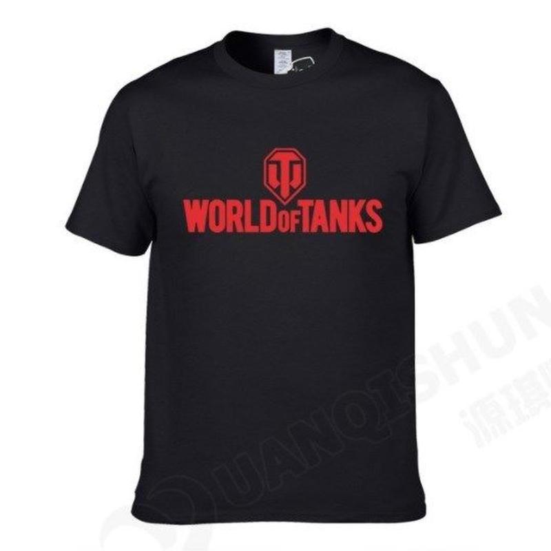World of Tanks ワールドオブタンクス WoT シンプル ロゴデザイン Tシャツ 半袖  ユニセックス ゲームグッズ  WoTグッズ   ブラック2