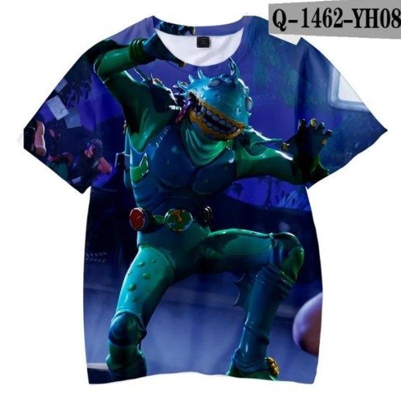 フォートナイト fortnite 子供服  3Dデザイン Tシャツ ユニセックス カジュアル半袖Tシャツ トップス  バトルロワイヤル  13