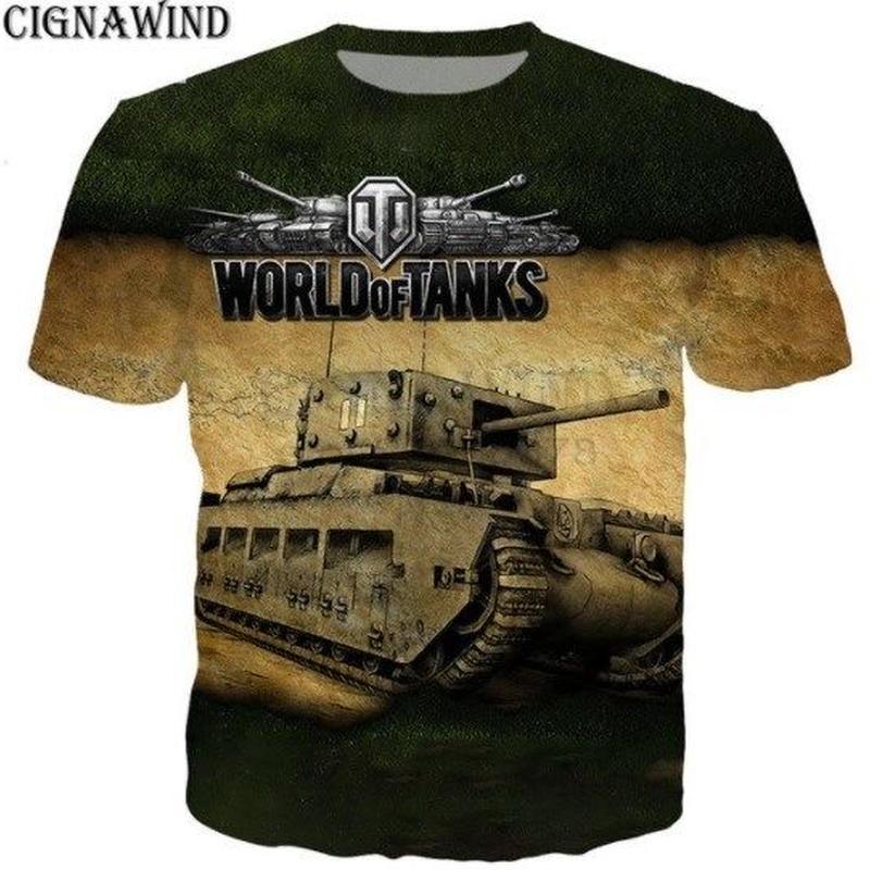 World of Tanks ワールドオブタンクス WoT 3Dデザイン Tシャツ 半袖  ユニセックス ゲームグッズ  WoTグッズ