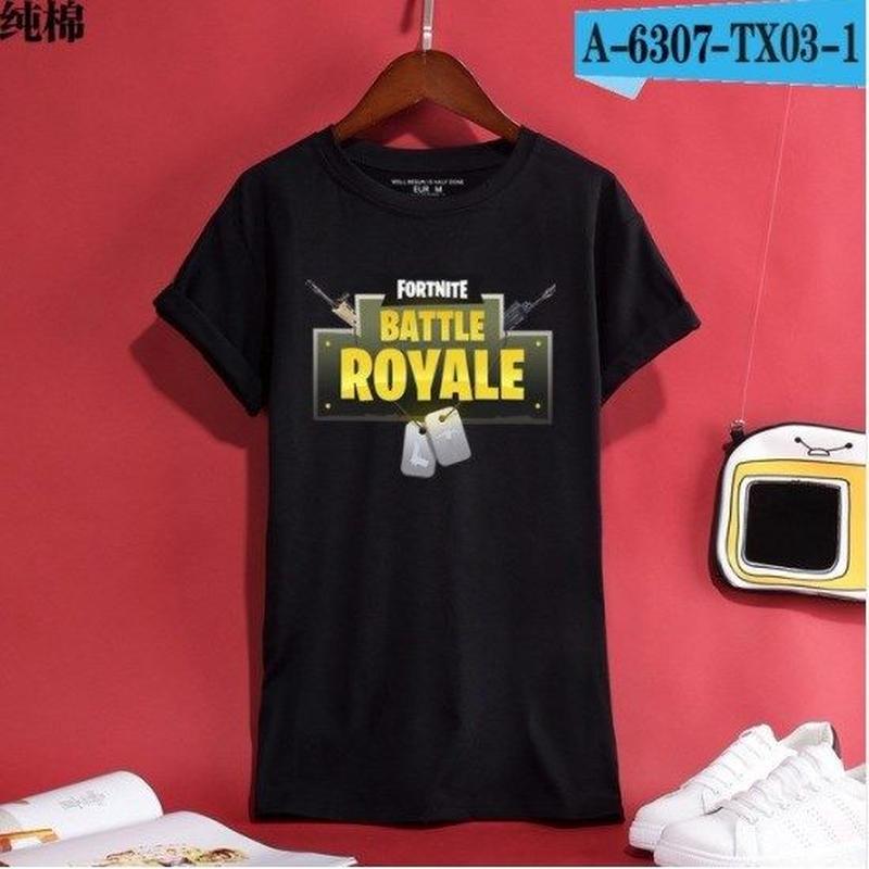 Fortnite フォートナイト ロゴ デザイン 綿100%  Tシャツ トップス  ユニセックス メンズ レディース  6