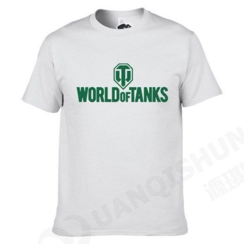 World of Tanks ワールドオブタンクス WoT シンプル ロゴデザイン Tシャツ 半袖  ユニセックス ゲームグッズ  WoTグッズ   ホワイト2
