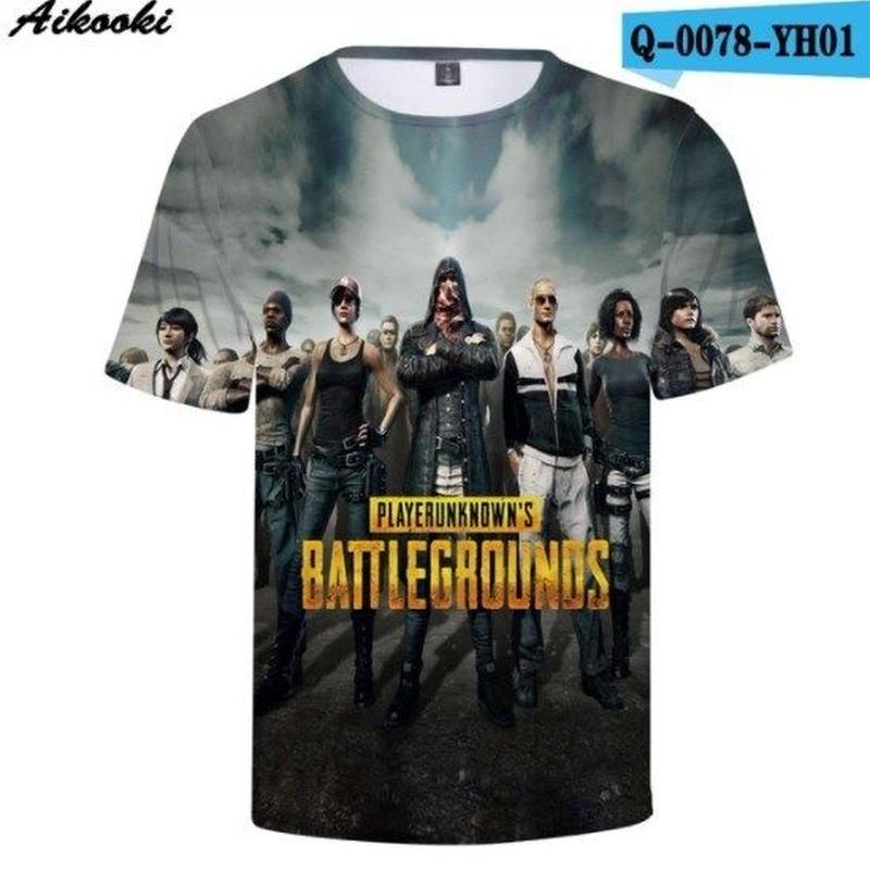 Pubg パブジー ゲーム 3Dデザイン Tシャツ ユニセックス  playerunknown Battlegrounds プレイヤーアンノウンズ バトルグラウンズ  4