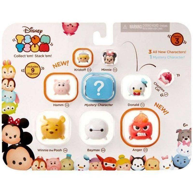 ディズニー フィギュア Series 3 Kristoff, Minnie, Cheshire Cat, Hamm, Donald, Winnie the Pooh, Baymax & Anger