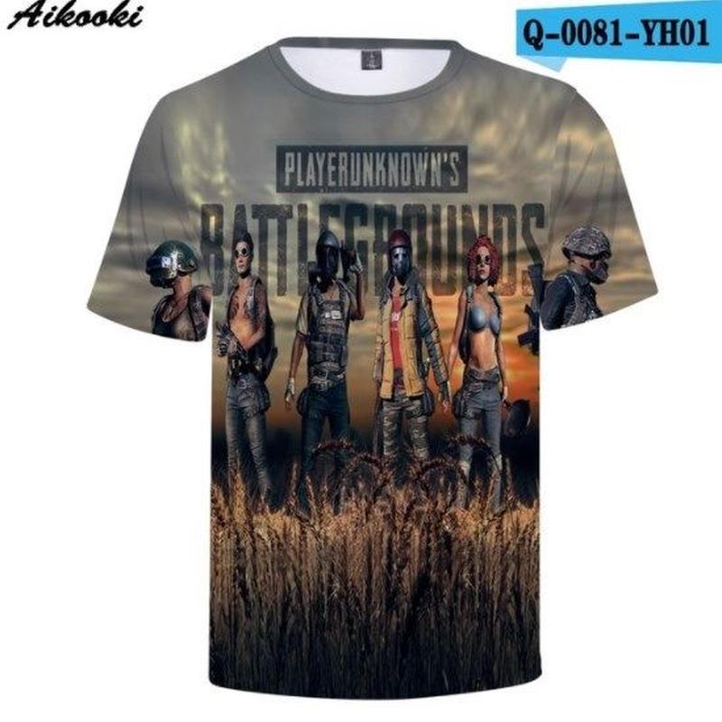 Pubg パブジー ゲーム 3Dデザイン Tシャツ ユニセックス  playerunknown Battlegrounds プレイヤーアンノウンズ バトルグラウンズ  7