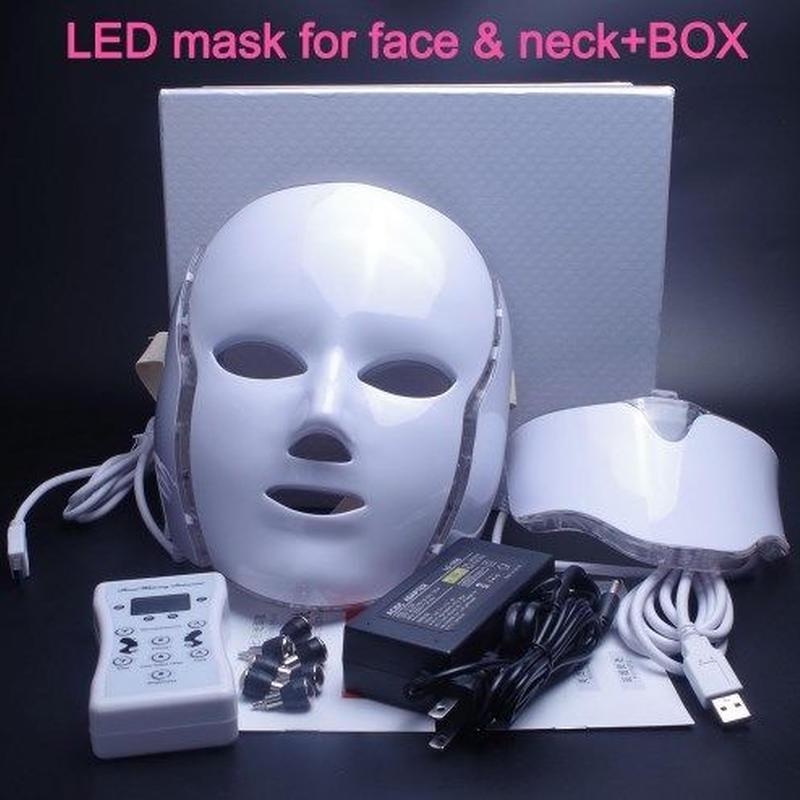 最新 光学美容 美顔器 LEDマスク 7色 美容 フェイスケア しみ、しわ、お肌にハリ たるみ対策