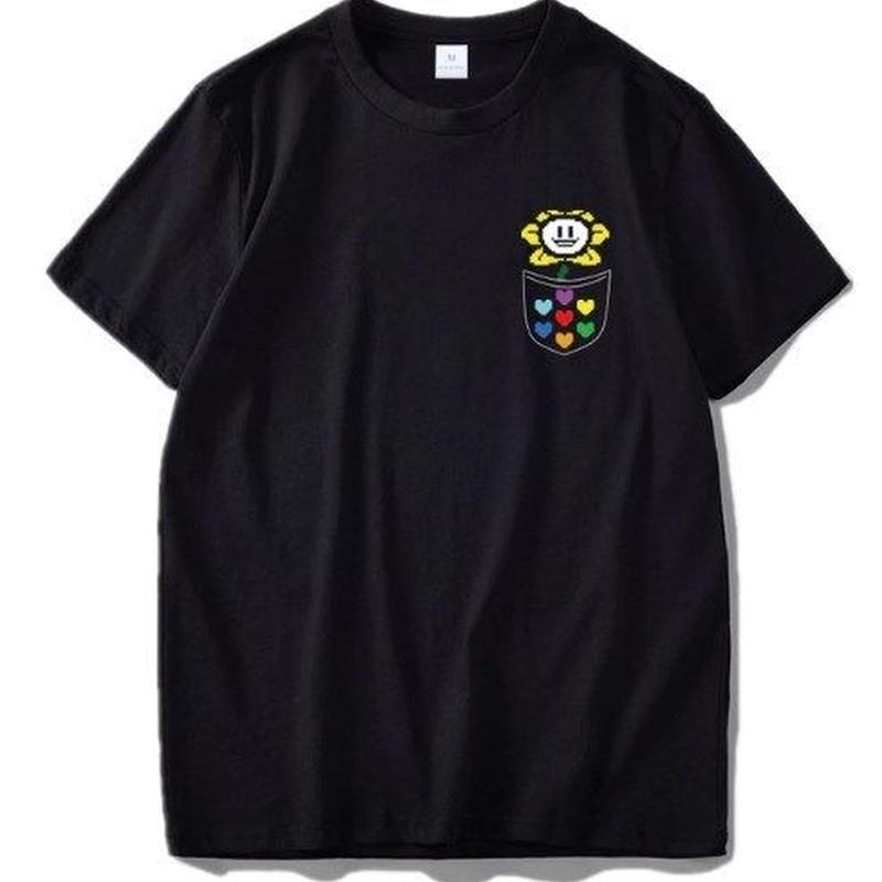 ゲームグッズ アンダーテール Undertale   ロゴ メッセージ Tシャツ 11