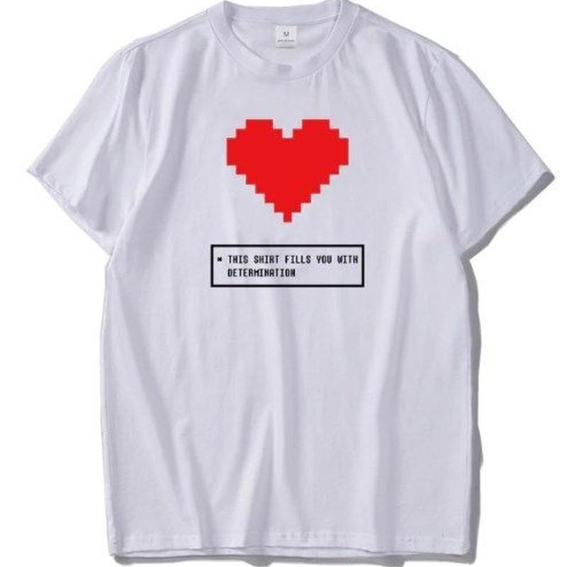 ゲームグッズ アンダーテール Undertale   ロゴ メッセージ Tシャツ 6