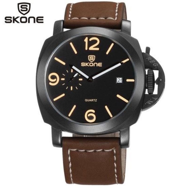 SKONE  クォーツ腕時計 メンズ ミリタリー パネライ好きの方に