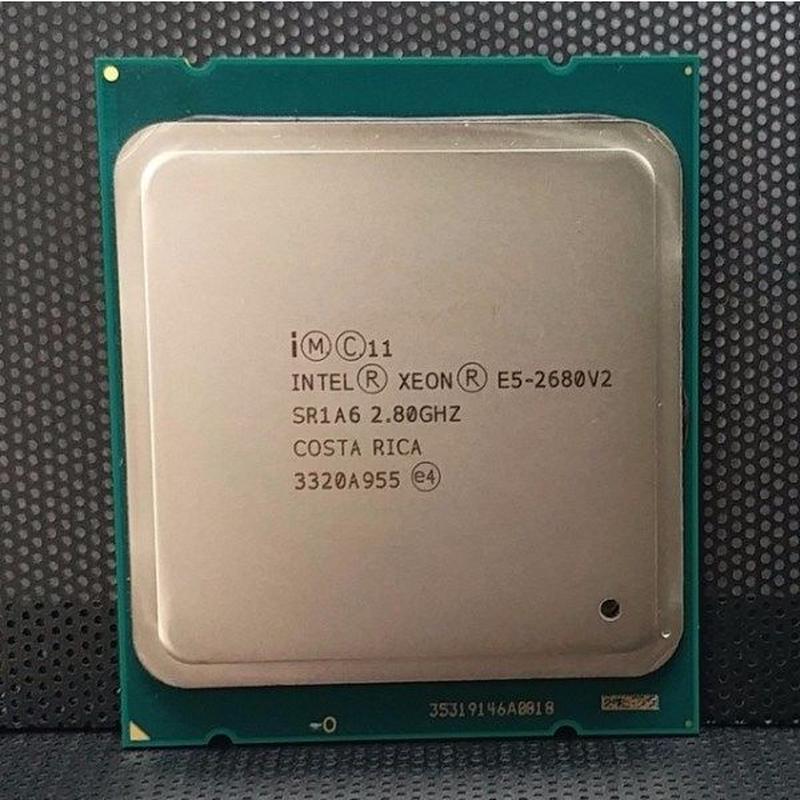 インテルxeon e5 2680 v2 SR1A6 cpuプロセッサ10コア2.80 ghz 25メートル1155ワットe5 2680-V2 動作品