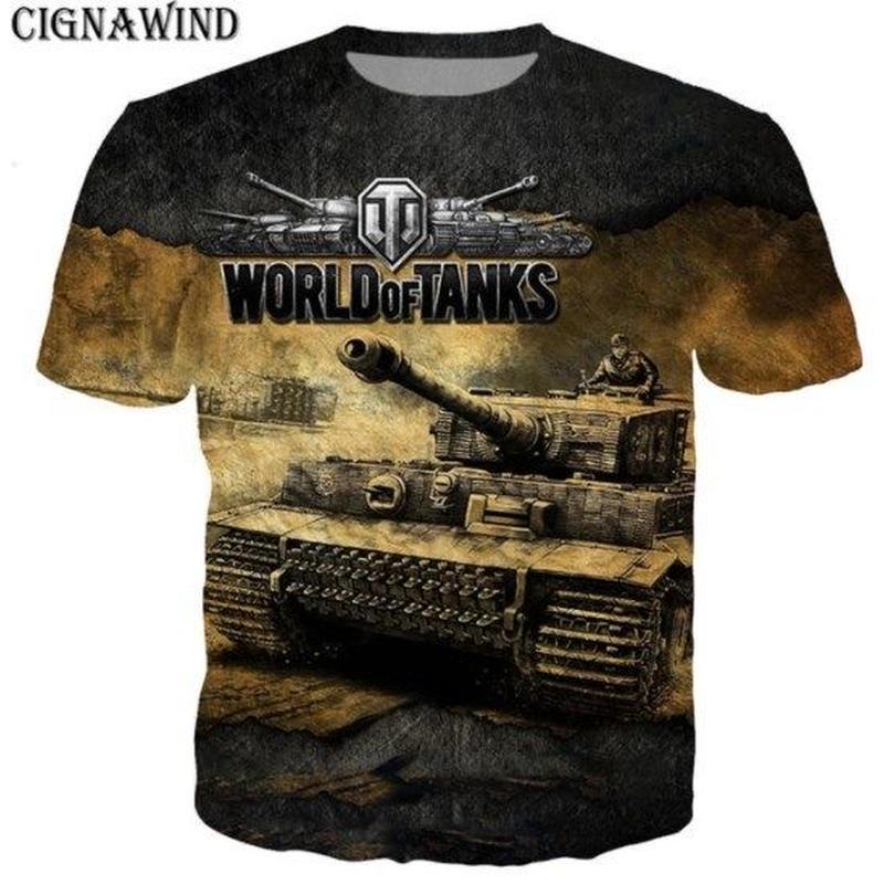 World of Tanks ワールドオブタンクス WoT 3Dデザイン Tシャツ 半袖  ユニセックス ゲームグッズ  WoTグッズ  2