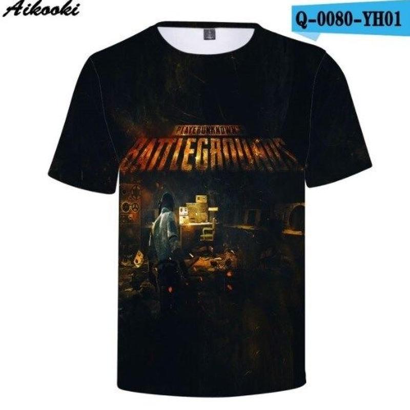 Pubg パブジー ゲーム 3Dデザイン Tシャツ ユニセックス  playerunknown Battlegrounds プレイヤーアンノウンズ バトルグラウンズ  6
