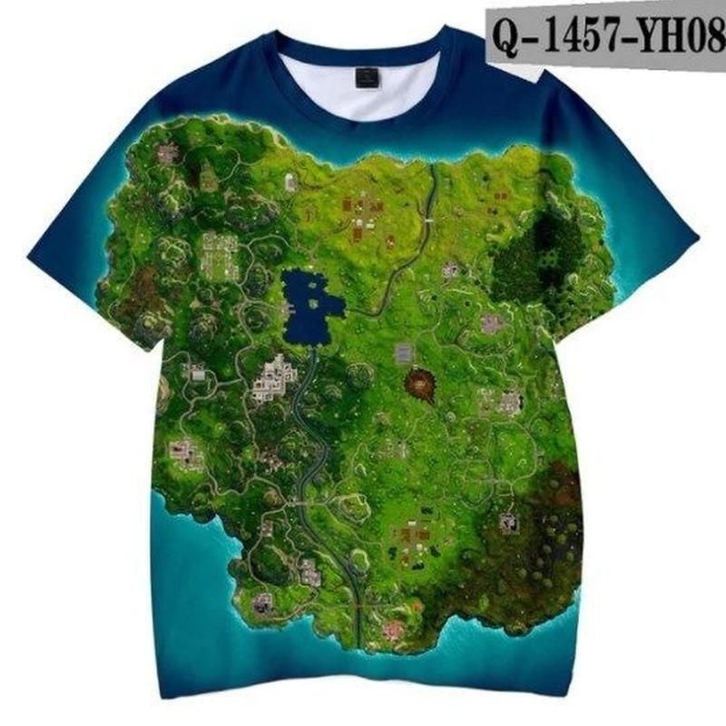 フォートナイト fortnite 子供服  3Dデザイン Tシャツ ユニセックス カジュアル半袖Tシャツ トップス  バトルロワイヤル  10
