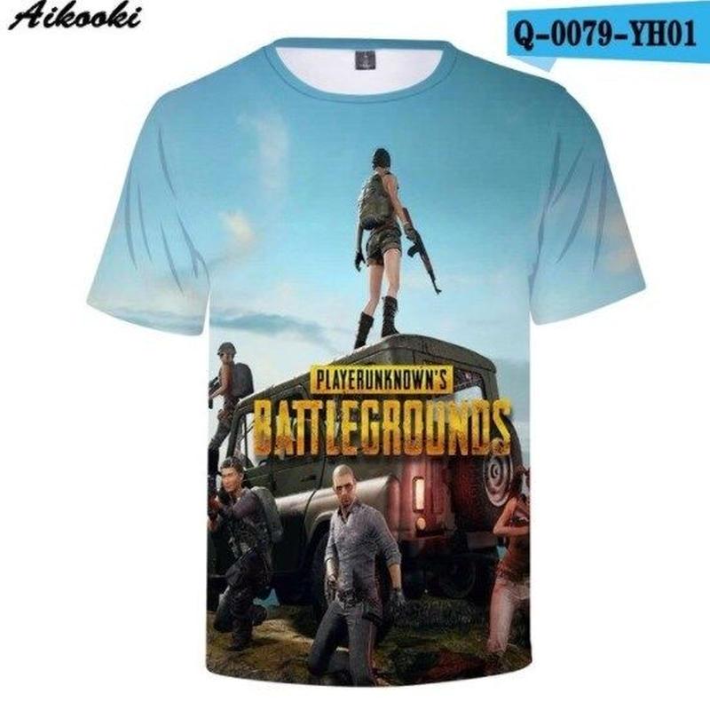 Pubg パブジー ゲーム 3Dデザイン Tシャツ ユニセックス  playerunknown Battlegrounds プレイヤーアンノウンズ バトルグラウンズ  5