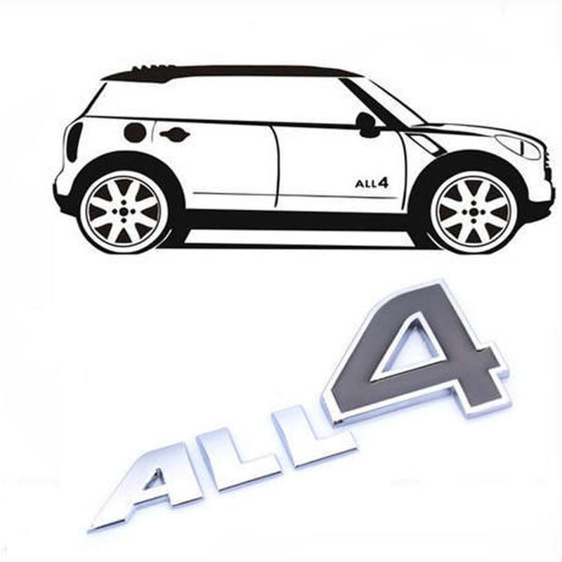 ミニクーパー ステッカー エンブレム ALL4 MINI Cooper h00421