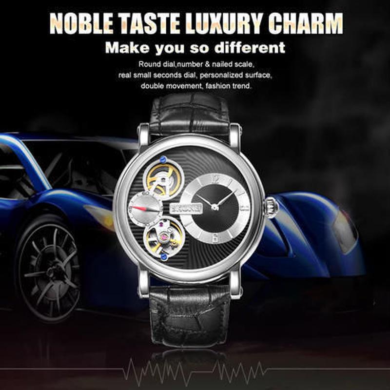 Skone 腕時計 メンズ 機械式+クォーツ