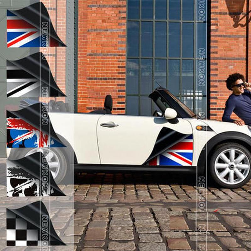 ミニクーパー ステッカー 2個入 Mini Cooper ボディ サイド R60 R56 F55 F56 h00423