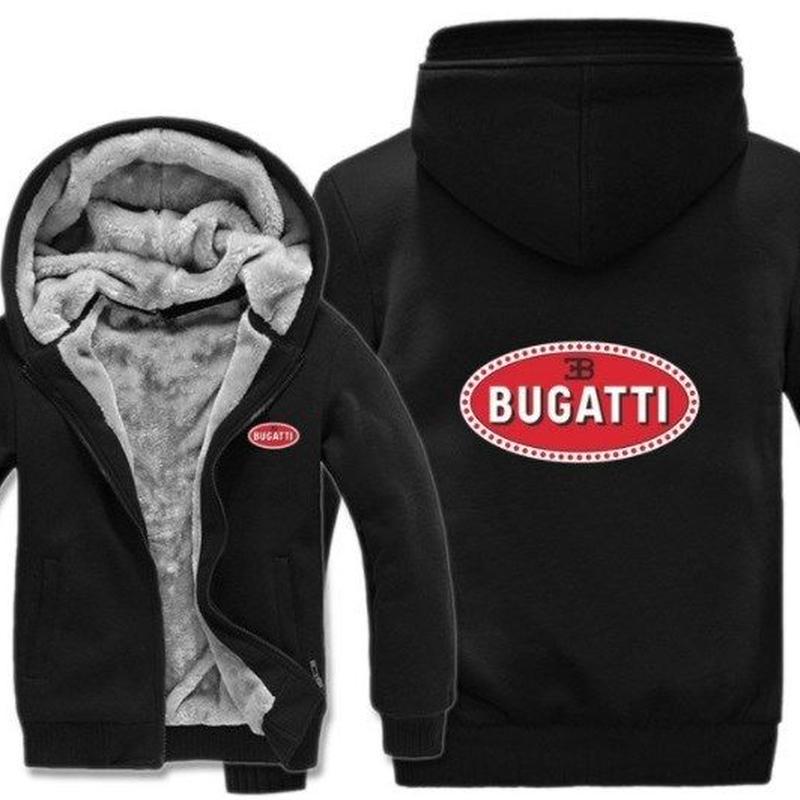 高品質 ブガッティ BUGATTI あったかい フリースパーカー ジップアップ  衣装 コスチューム 小道具 海外限定 車グッズ 車グッズ関連 2