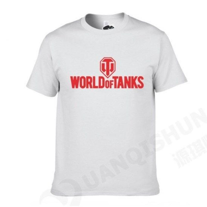 World of Tanks ワールドオブタンクス WoT シンプル ロゴデザイン Tシャツ 半袖  ユニセックス ゲームグッズ  WoTグッズ   ホワイト1