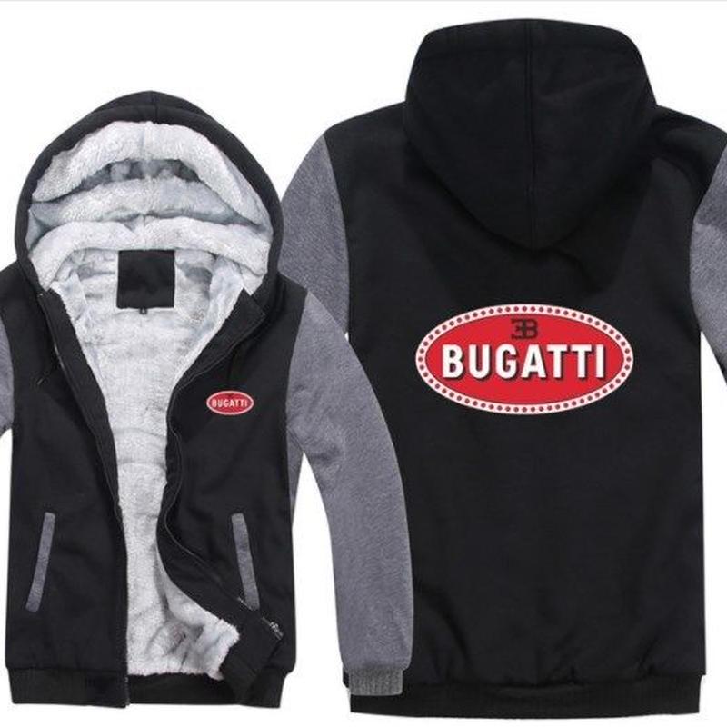 高品質 ブガッティ BUGATTI あったかい フリースパーカー ジップアップ  衣装 コスチューム 小道具 海外限定 車グッズ 車グッズ関連 3