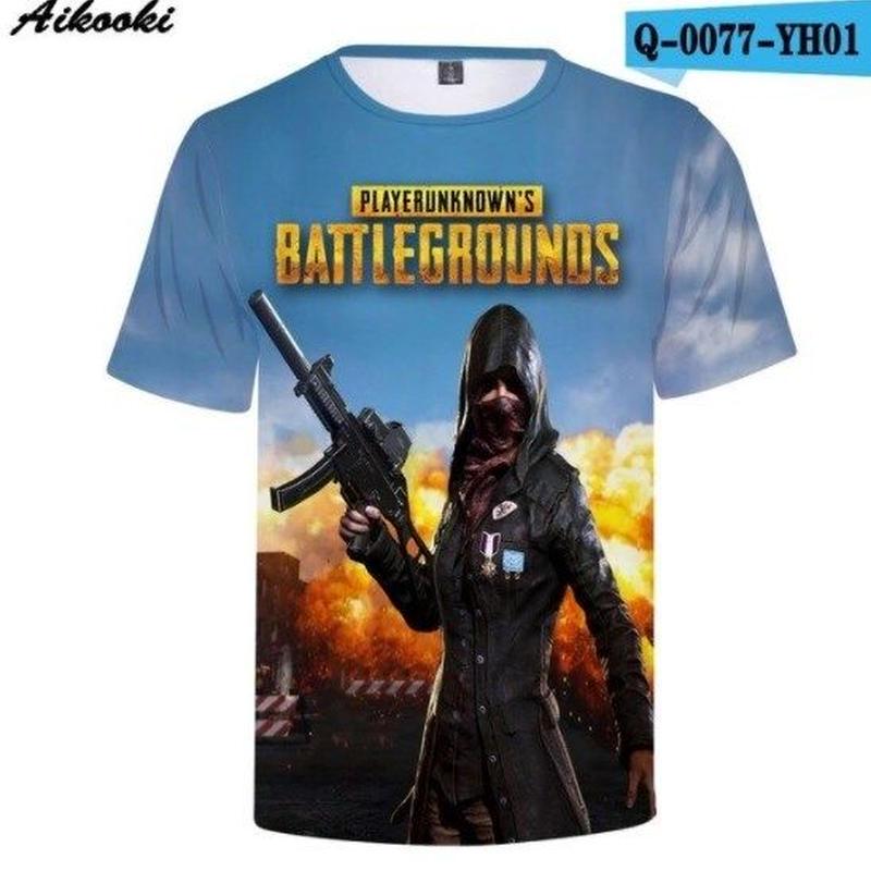 Pubg パブジー ゲーム 3Dデザイン Tシャツ ユニセックス  playerunknown Battlegrounds プレイヤーアンノウンズ バトルグラウンズ  3