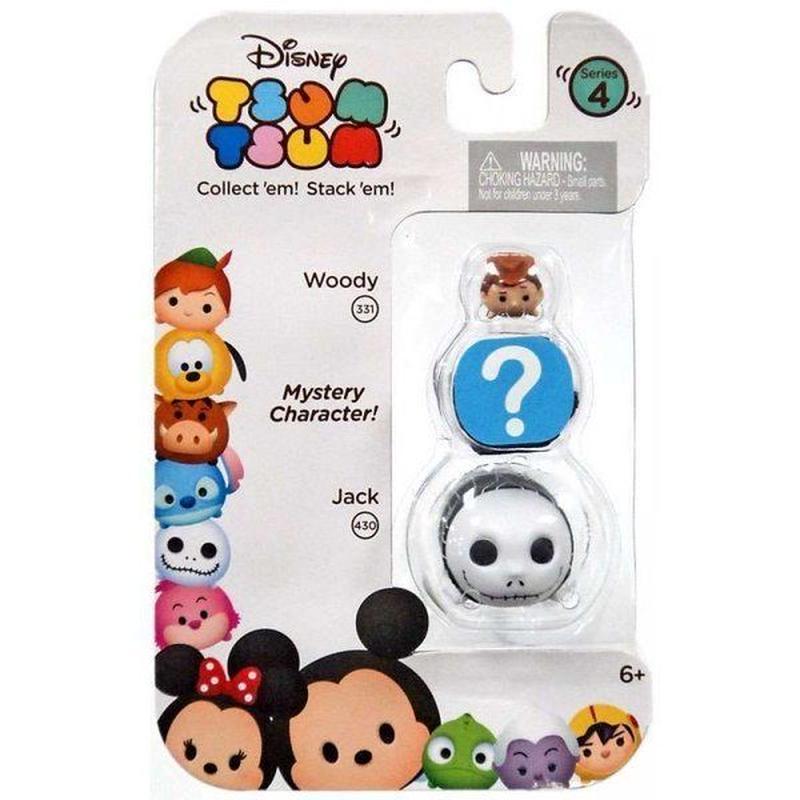 ディズニー Disney ジャックスパシフィック Jakks Pacific フィギュア おもちゃ Tsum Tsum Series 4 Woody & Jack 1-Inch Minifigure