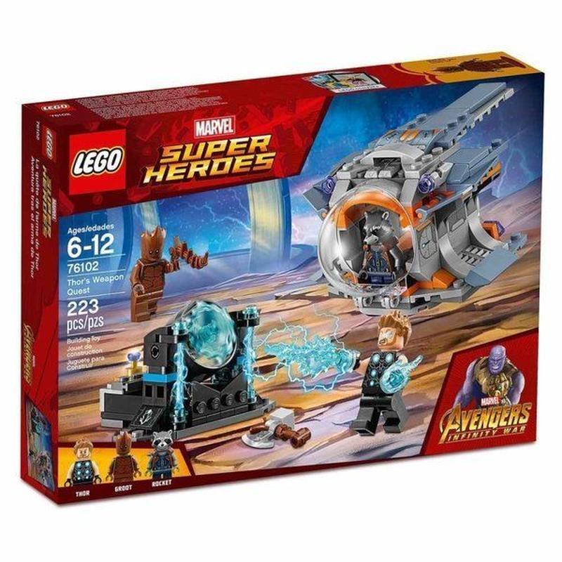レゴ LEGO おもちゃ Marvel Super Heroes Avengers Infinity War Thor's Weapon Quest Set #76102